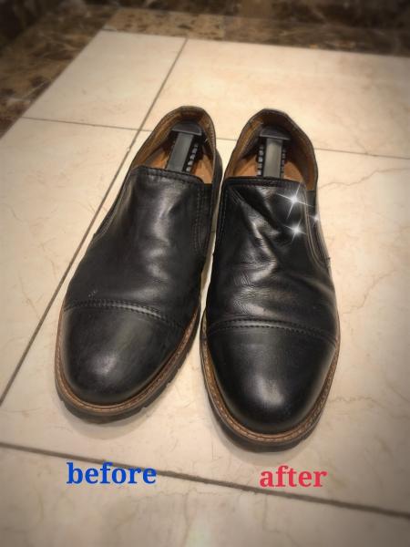 靴磨き始めました!