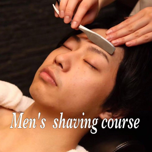 Men's shaving course<Japanese barber shop in Singapore>