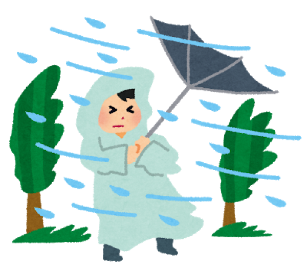 台風到来!!