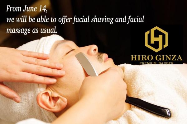 Resumption of face shaving<Japanese barber shop in Singapore>