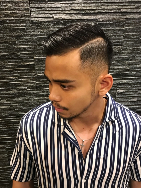 Skin Fade with Part