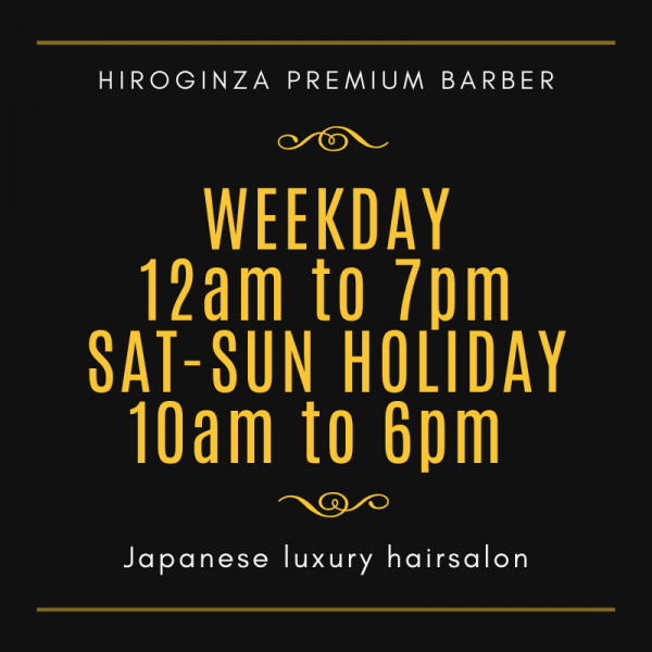 Circuit breaker period menu<Japanese barber shop in Singapore>