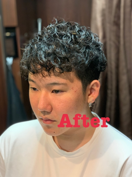 Before after 画像付 セクシーパーマ