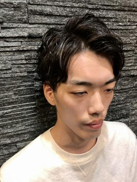 アップバングパーマ【ヒロ銀座】赤坂/バーバー/パーマ